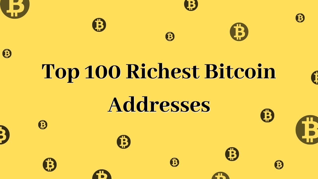 Top 100 Richest Bitcoin Addresses [~ 2019 UPDATED] — COINnws